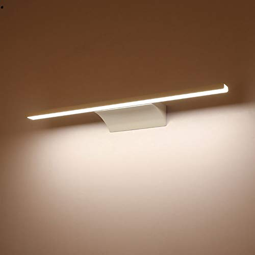 Bathroom Wall Lights Chrome Finished Cool White Waterproof LED Bathroom Mirror Lamp 8W Make-up Over Mirror LED Picture Lights,52cm/12W ()