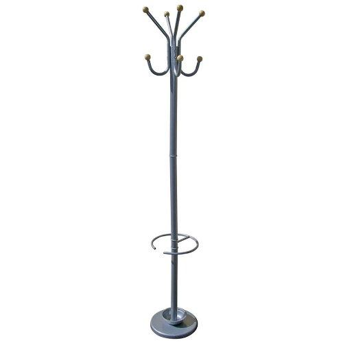t Silver Coat Rack with Umbrella Holder ()