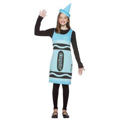 Tween Sky Blue Crayon Costume Dress -