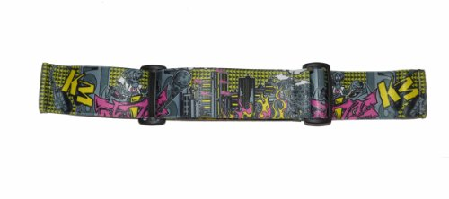 Spectra Jt Strap Goggle (KM Straps Paintball Mask Strap - Graffiti Black and Yellow Robot)