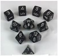 Ninja Elemental and Speckled Dice Set 10pc Set in Tube