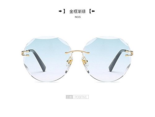 El Sin Gafas Moda Plana Enmarcadas Cerco Mar Transparentes De Redondo Sol dorado Golden Gafas Sol Films marco es De JUNHONGZHANG Gafas Hombre verde Blanca De 4OvxqR4w