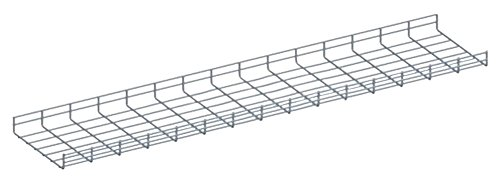 Quest Manufacturing Wire Mesh Cable Tray, 10' x 6''W x 2''H, Zinc (CT1006-03)