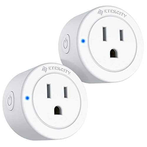 VeSync Smart Plug by Etekcity, 2 Pack Mini WiFi Outlets, Compatible with Alexa, Google Home IFTTT, Remote Control from Anywhere, Group Control with Schedule Function, No Hub Required, ETL Listed