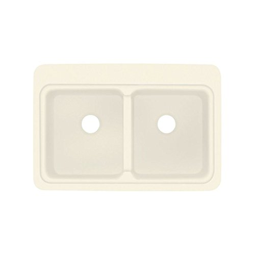 Biscuit Composite Top Mount (Transolid KDT33229-08 33in x 22in Top Mount Self-Rimming Charleston Kitchen Sink, Biscuit)