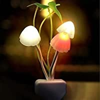 Sukau Fancy Color Changing LED Mushroom Night Light - White