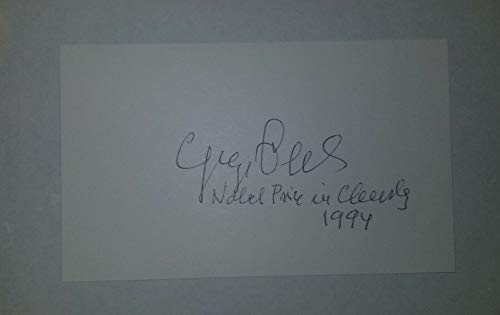 """""""Nobel Prize In Chemistry"""" George Olah Hand Signed 3x5 Card JG Autographs COA from Unknown"""