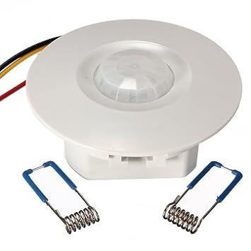 Tanzimarket - De alta calidad de 360 grados Mini empotrable de techo Detector PIR sensor de