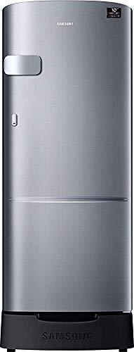 Renewed  Samsung 192 L 4 Star Inverter Direct Cool Single Door Refrigerator  Elegant Inox