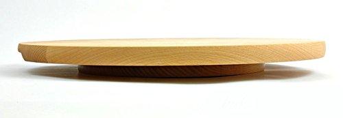 Sendez Drehteller Pizzateller /ø 40 cm drehbar Holzteller Drehplatte Buche K/äseteller