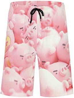 TengmiuXin Pig drucken im Vintage-Stil Strandshorts Badeanzug oder Sportshorts Schnell trocknen mit Elastic Waistband Pig