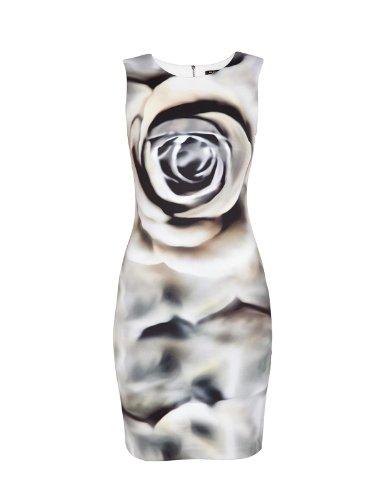 multicolore multico Morgan Vestito Donna Senza Maniche Multicolore blanc rqTX0Txgw
