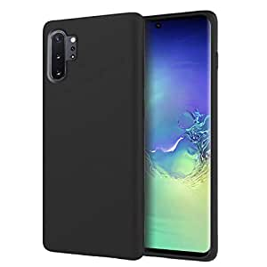 ZUSLAB Nano Silicone Case Compatible with Samsung Galaxy Note 10 Plus & Note 10 Plus 5G 10+ Shockproof Gel Rubber Bumper Protective Cover - Black