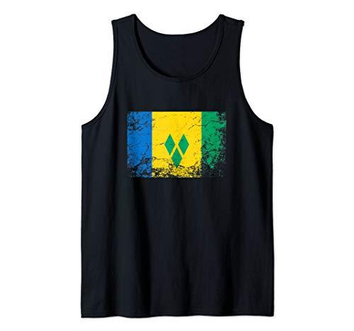 Saint Vincent and the Grenadines National flag vintage gift  Tank Top