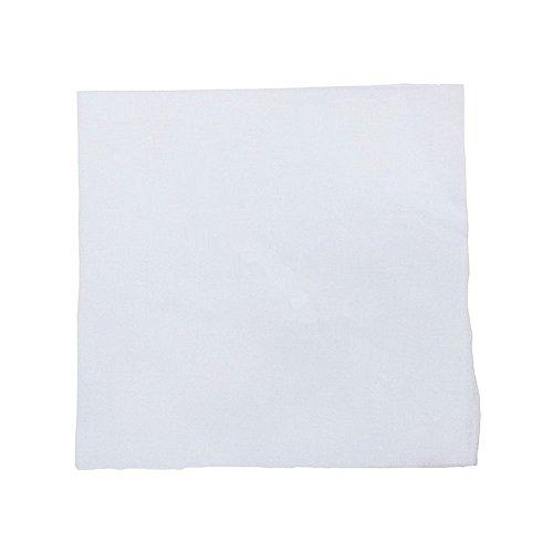 White Cotton Bandana - 6 Pieces 100% Cotton Cowboy Head Wrap Scarf Solid Color Bandanas(White)