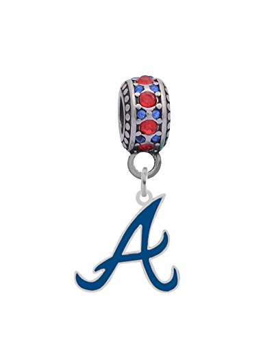 Atlanta Braves Logo Crystal - Atlanta Braves Blue A Logo Charm
