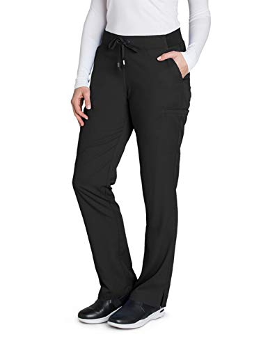 Greys Anatomy Scrubs Petite - Grey's Anatomy 4277 Straight Leg Pant Black XS Petite