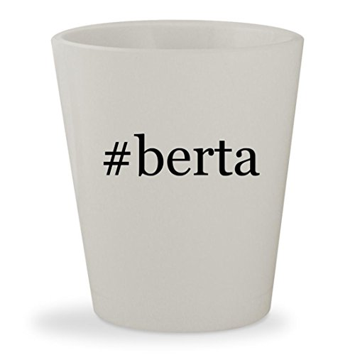 #berta - White Hashtag Ceramic 1.5oz Shot (Berta Grappa)