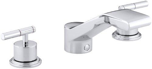 Kohler K-T8238-4-CP Taboret Bath-Mount High-Flow Bath Faucet Trim, Polished Chrome - Shower Taboret