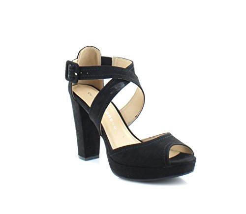 Chinese Laundry Womens All Access Open Toe Casual Ankle Strap, Black, Size 8.0