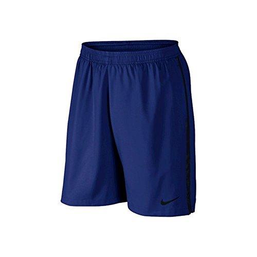 Nike 9 Inch Graphic Court Tennis Shorts Black/White (SM x 9, Deep Royal Blue/Black)