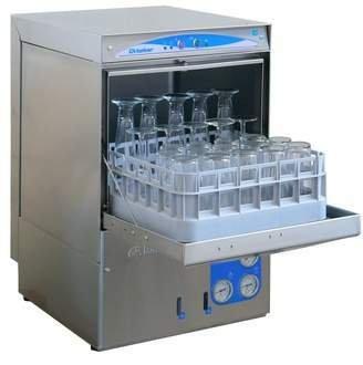 30 Rack/Hr Undercounter High Temperature Sanitizing Glass Washer w/ Booster