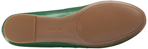 Nine West mintchip Ballet de cuero plano Green