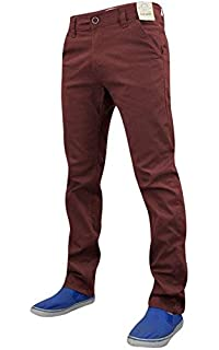 Mens Chinos Chino Jeans Pants Trousers Straight Leg Classic Stretch Regular Fit
