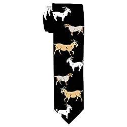 Funny Goat Gifts for Men Goat Tie Goat Office Gifts Billy Goat Gag Gifts Mens Goat Novelty Necktie