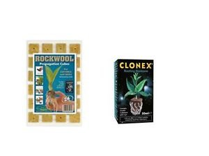 24 rockwool propagation cubes & clonex 50ml GROWTH TECHNOLOGY