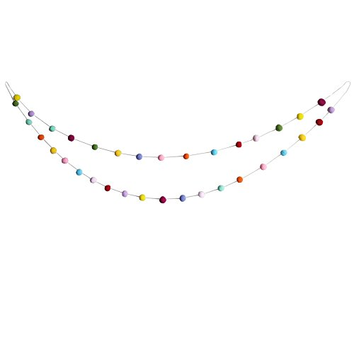 Pom Yarn Pom Baby (PROPARTY Colorful Handmade Felt Balls Pom Pom Garland Decorations for Birthday Wedding Baby Shower Party Wall Decorations)