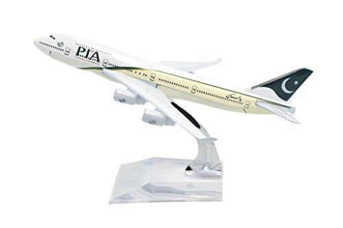 TANG DYNASTY 1/400 16cm パキスタン航空 PIA Airlines ボーイング B747 高品質合金飛行機プレーン模型 おもちゃ