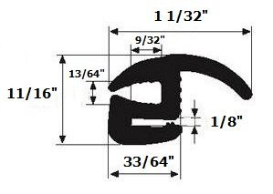 window rubber seal gasket Foot product image