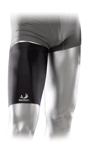 Medical Grade Compression Sleeve to Relieve Pain from Quad and Hamstring Strains - Thigh Skin by BioSkin (L) by BioSkin