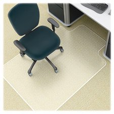 Lorell 46 by 60-Inch Wide Antistatic Chair Mat, 25 by 12-Inch Lip, Clear by Lorell