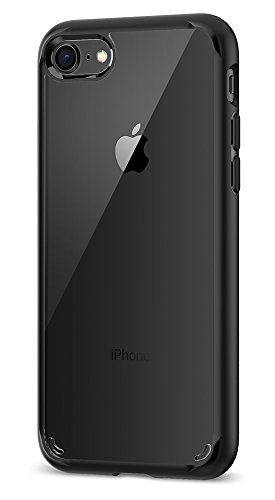 Spigen Ultra Hybrid [2nd Generation] iPhone 7 Case / iPhone 8 Case with Clear Air Cushion Technology for Apple iPhone 7 (2016) / iPhone 8 (2017) – Black