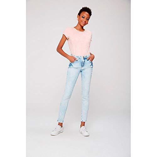 a0e6233a0a Calça Cigarrete Jeans Estonado Feminina Tam  46   Cor  BLUE