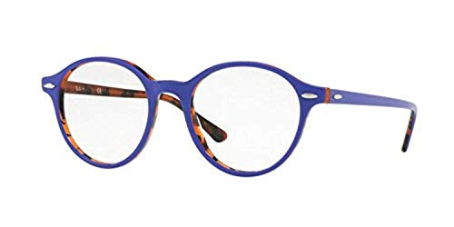 Rx7118 Ray Orange Violet On Eyeglasses Havana Dean Unisex ban Top B1wEx1qR
