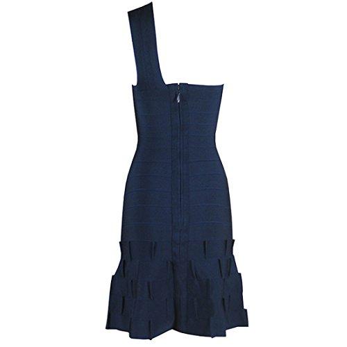 HLBCBG - Vestido - Sin mangas - para mujer azul oscuro