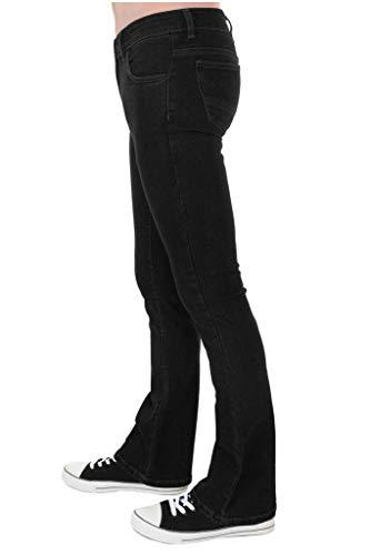 Run & Fly Mens 60s 70s Vintage Black Stretch Denim Slim Bootcut Jeans 34 Regular for $<!--$34.95-->