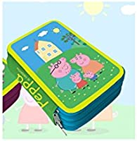 Estuche con 3 cremalleras Peppa Pig: Amazon.es: Oficina y papelería