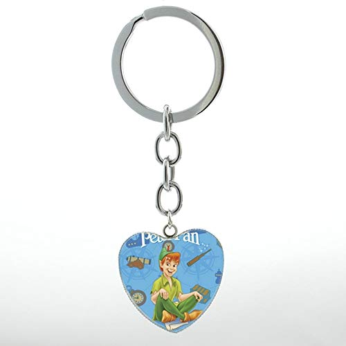 Key Chains - Cartoon Anime Peter Pan Never Grow up Neverland Keychain The Lost Boys Key Chains Ring Men Women Kids Gifts Jewelry HP143 - by Mct12-1 PCs (Peter Pan And The Lost Boys Cartoon)
