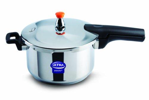Elgi Ultra EU-5.5L Stainless Steel Pressure Cooker, 5.5-Liter