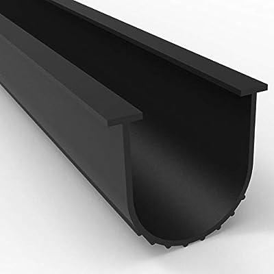 Garage Door Seal Bottom Rubber Weatherproofing Weather Stripping, Black U Shape (26 Foot)