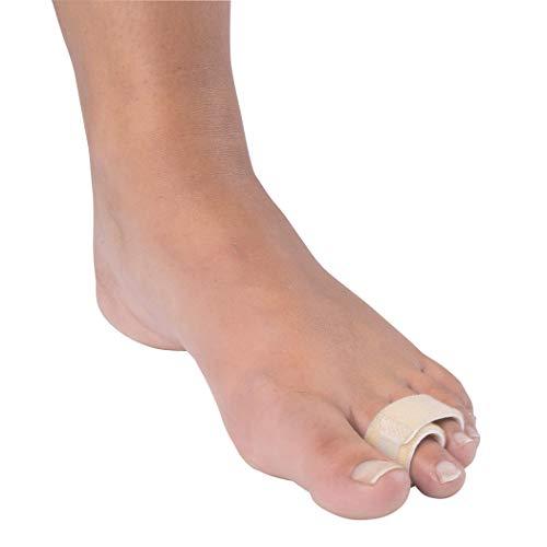 Premium Soft Fabric Toe Buddy Wraps - Cushioned Toe Separator and Splint - 2 ()