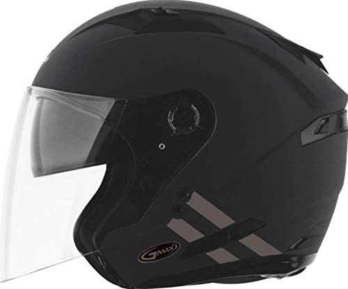 GMAX OF-77 Adult Downey Open-Face Motorcycle Helmet - Matte Grey/Silver/Large ()