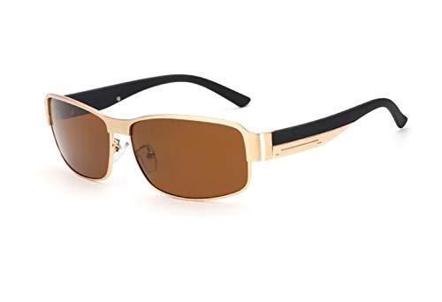 vélo Huyizhi Lunettes Cool de de mode protection du lunettes voyager conduire de Golden la des sports de soleil polarisées faisant unisexes soleil UV400 qqFwrRx