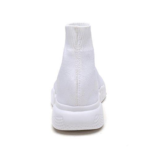 DREAM PAIRS Neue Mode Damen Lady Easy Walk Slip-On Leichte Freizeit Comfort Loafer Schuhe Turnschuhe 170885-weiß