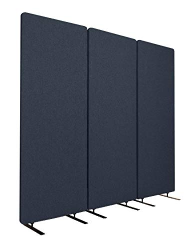 "S Stand Up Desk Store ReFocus Acoustic Room Dividers | Office Partitions - Reduce Noise and Visual Distractions with These Easy to Install Wall Dividers (72"" X 66"", Midnight Blue)"