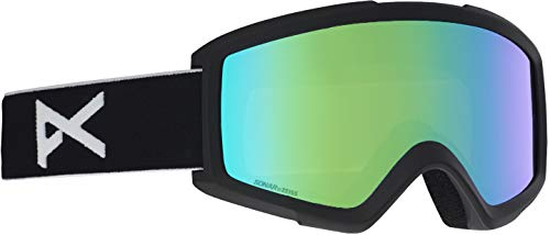 Anon Helix 2 Goggle with Spare Lens, Black Frame Sonar Green ()